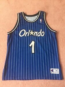 Details about Authentic Champion PENNY Hardaway Orlando Magic Blue Pinstripe Sewn Jersey XL 48