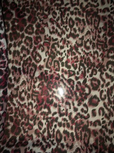 """3 MTR MAROON LEAPORD ANIMAL PRINT DRESS CHIFFON FABRIC 58"""" WIDE SPECIAL OFFER"""
