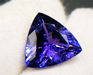 High-quality-AAAAA-LOOSE-GEMSTONE-UNHEATED-BLUE-COLOR-TANZANITE-12mm-TRIANGLE