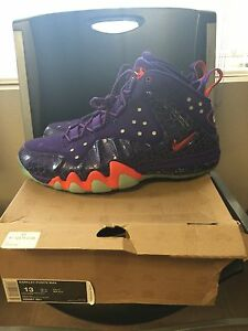 f05403ddf2564 NIKE BARKLEY POSITE MAX COURT PURPLE TEAM ORANGE 555097 581 SIZE 13 ...