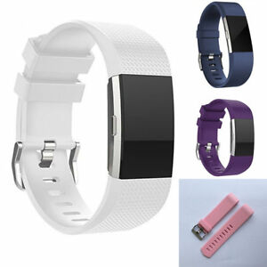 Details about Fitbit Charge 2 Strap Replacement Band Classic Silicone Gel  Wristband Accessory