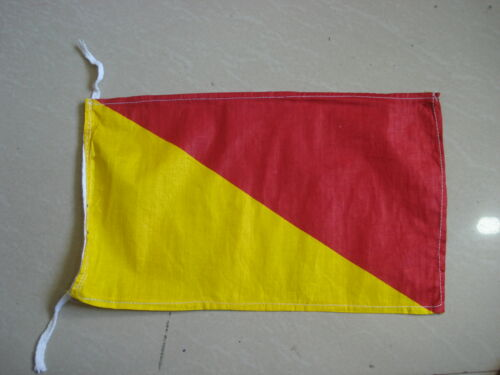 "8/"" X 13/"" Naval Signal Flag Nautical // Boat 100/% Cotton – Marine Code O"