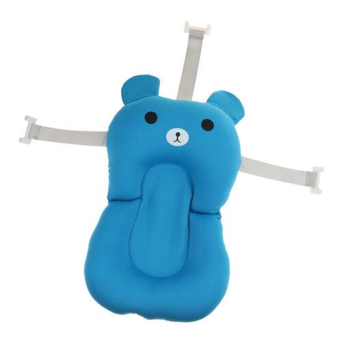 Baby Badewanne Kissen Badekissen Mat 52x32x9cm Faltbare Wanne Pad Blau bär