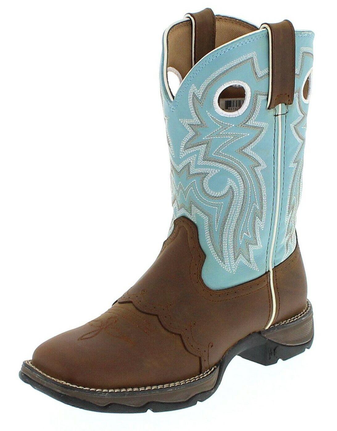 Durango botas botas rd3471 marrón turquesa westernreitbotas work botas