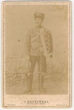 CDV Kabinettfoto ZIETENHUSAR Rathenow 1900 Husar Zietenhusaren Uniform Pappfoto