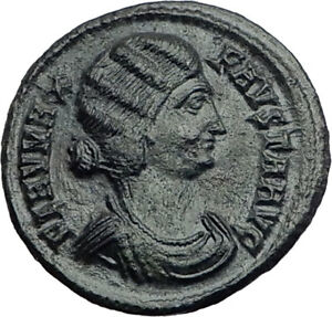 FAUSTA-Constantine-the-Great-Wife-324AD-Authentic-Ancient-Roman-Coin-i64855