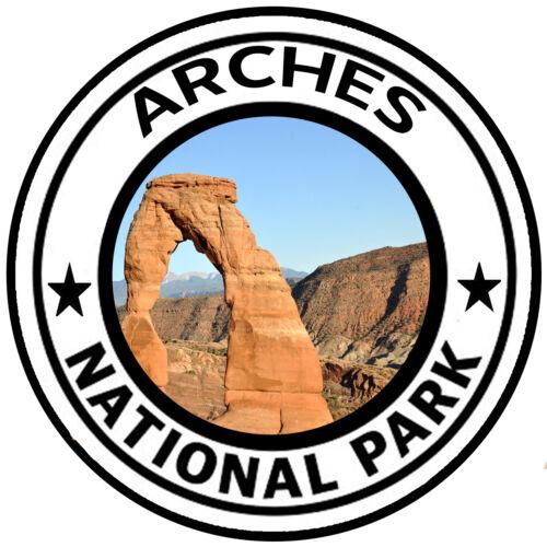 Arches National Park Round Sticker Auto Decal Car Truck RV Window Travel Utah