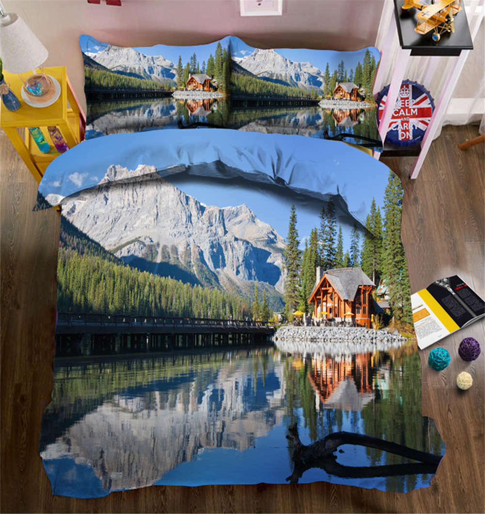 Mysterious Scenery 3D Printing Duvet Quilt Doona Covers Pillow Case Bedding Sets