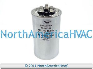 NEW Motor Round Dual Run Capacitor 45 3 uf MFD 370 Volt Packard PRCD453