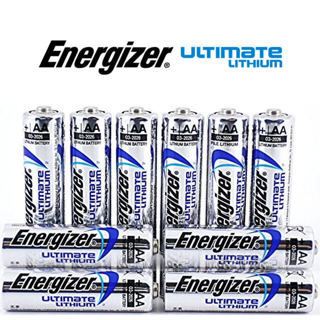 SHRINK PACK 10 x ENERGIZER AA ULTIMATE LITHIUM BATTERIES MN1500 LR6 L91 NEW 1.5v