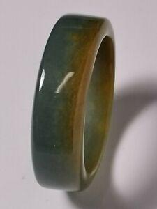 Natural-Ice-Jadeite-Jade-Band-Ring-US-SIZE-16