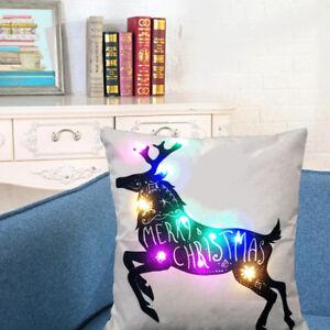 EE-LC-EG-Deer-Christmas-Pillow-Case-LED-Lighting-Linen-Cushion-Cover-Sofa-Dec