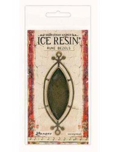 IRB59912 Antique Bronze Ellipse Ranger ICE Resin® Rune Bezels