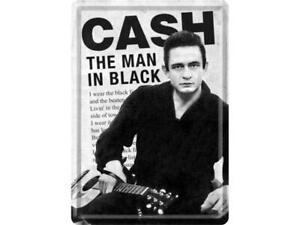 Nostalgic-art-Cartolina-Metallo-10x14cm-Johnny-Cash-Man-in-Black