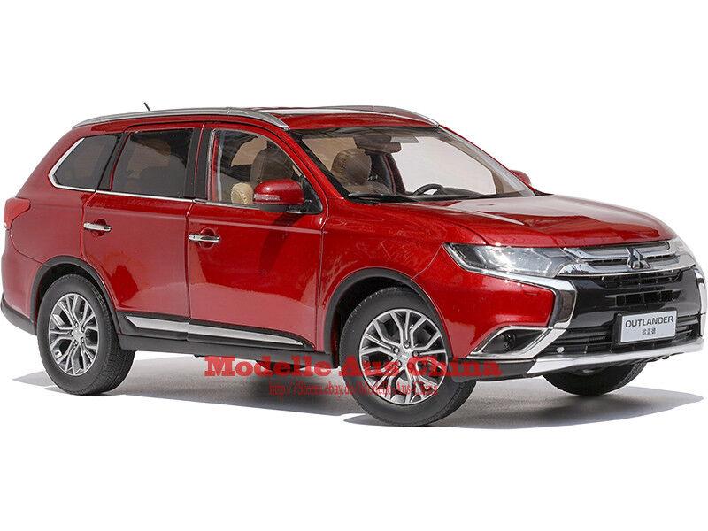 1 18 GAC Mitsubishi 2017 Outlander 4WD Rallye Rot (Rally rot) Händler Auflage