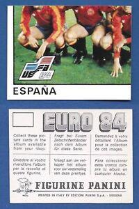 FIGURINA-CALCIATORI-PANINI-EURO-84-NUOVA-NEW-N-209-SQUADRA-ESPANA