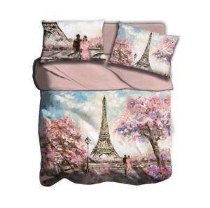 Copripiumino-I-LOVE-SLEEPING-matrimoniale-disegno-PINK-PARIS-stampa-digitale-3D