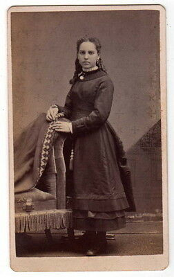 CDV PHOTO GIRL RINGLETS W H JACOBY MINNEAPOLIS MINNESOTA MN 1887-1888