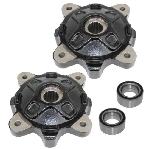 FRONT LEFT RIGHT WHEEL HUBS and BALL BEARINGS FIT Polaris RZR 4 800 2012-2014