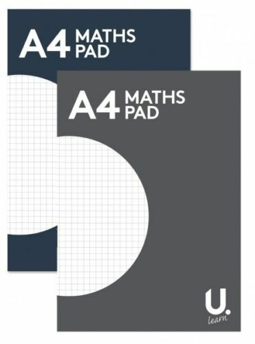 5 maths squared paper pad a4 punched folder large 100 page 5x5mm