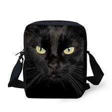 Stylish Black Cat Women Messenger Bags Cross Body Handbag Girls Shoulder Purse
