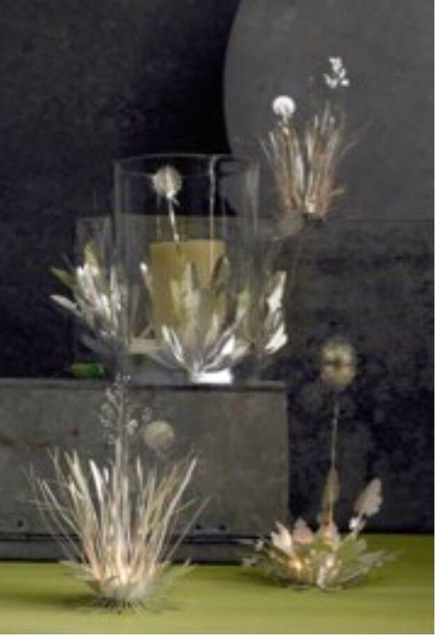 Roost gran pieza de césped Mariposa huracán Wrap Plata Metal Grabado
