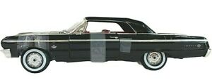 #7838 American Muscle Black 1964 Chevrolet Impala SS Die Cast 1:18