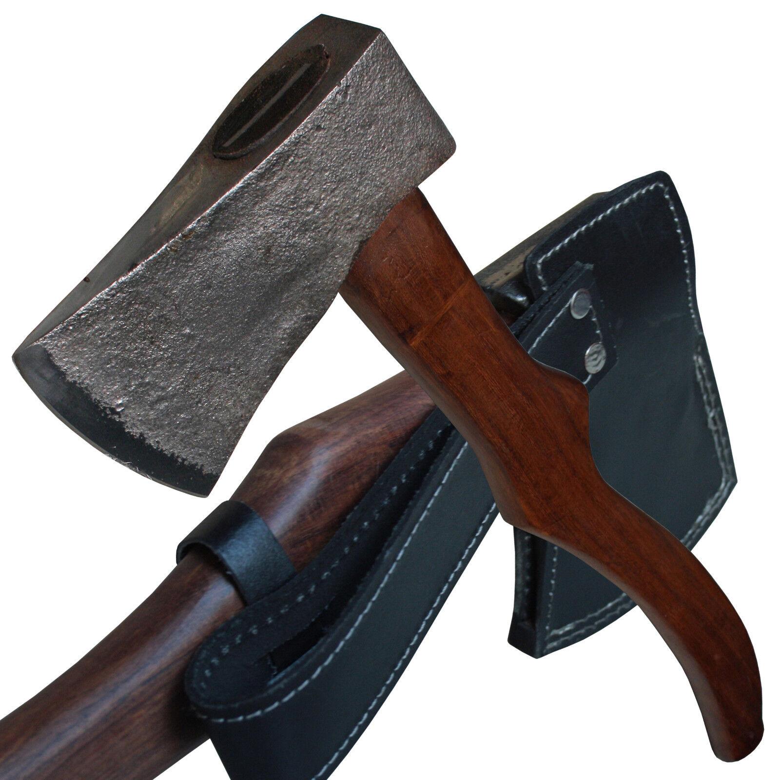 Haller Kräftige Axt Axtblatt geschwungener geschmiedet geschwungener Axtblatt Holzgriff Lederscheide a283b0