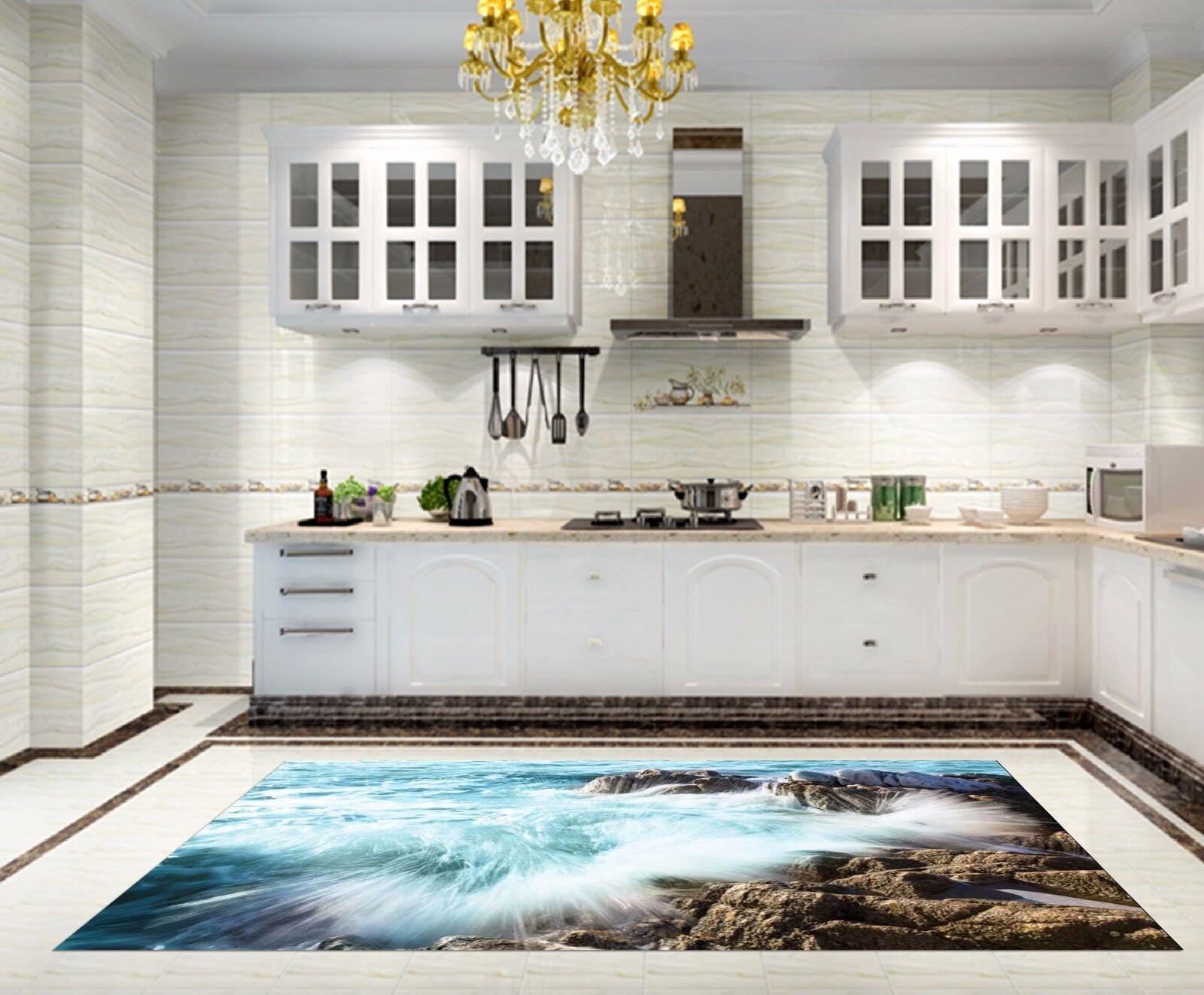 3D Coast Scenery Kitchen Mat Floor Murals Wall Print Wall Deco AJ WALLPAPER AU