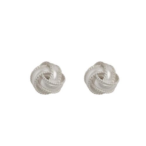 8mm cuerda con nudo Arito//Caja De Regalo 925 Plata Esterlina