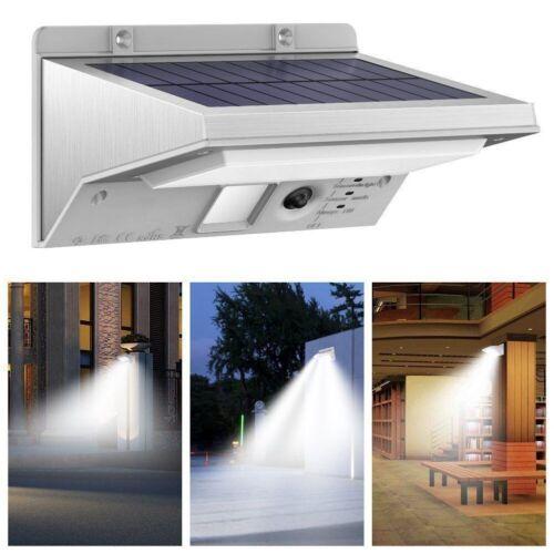 Solar Power Motion Sensor Security Lights 21LED 3Modes Outdoor Garden Porch Lamp