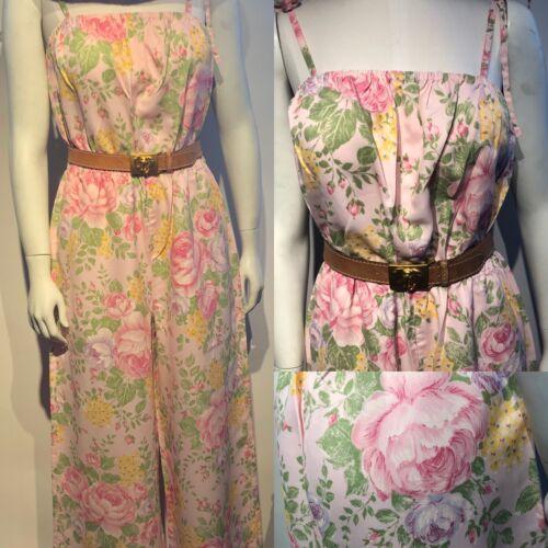 1970-1980s Vintage Floral Jumpsuit Sunsuit