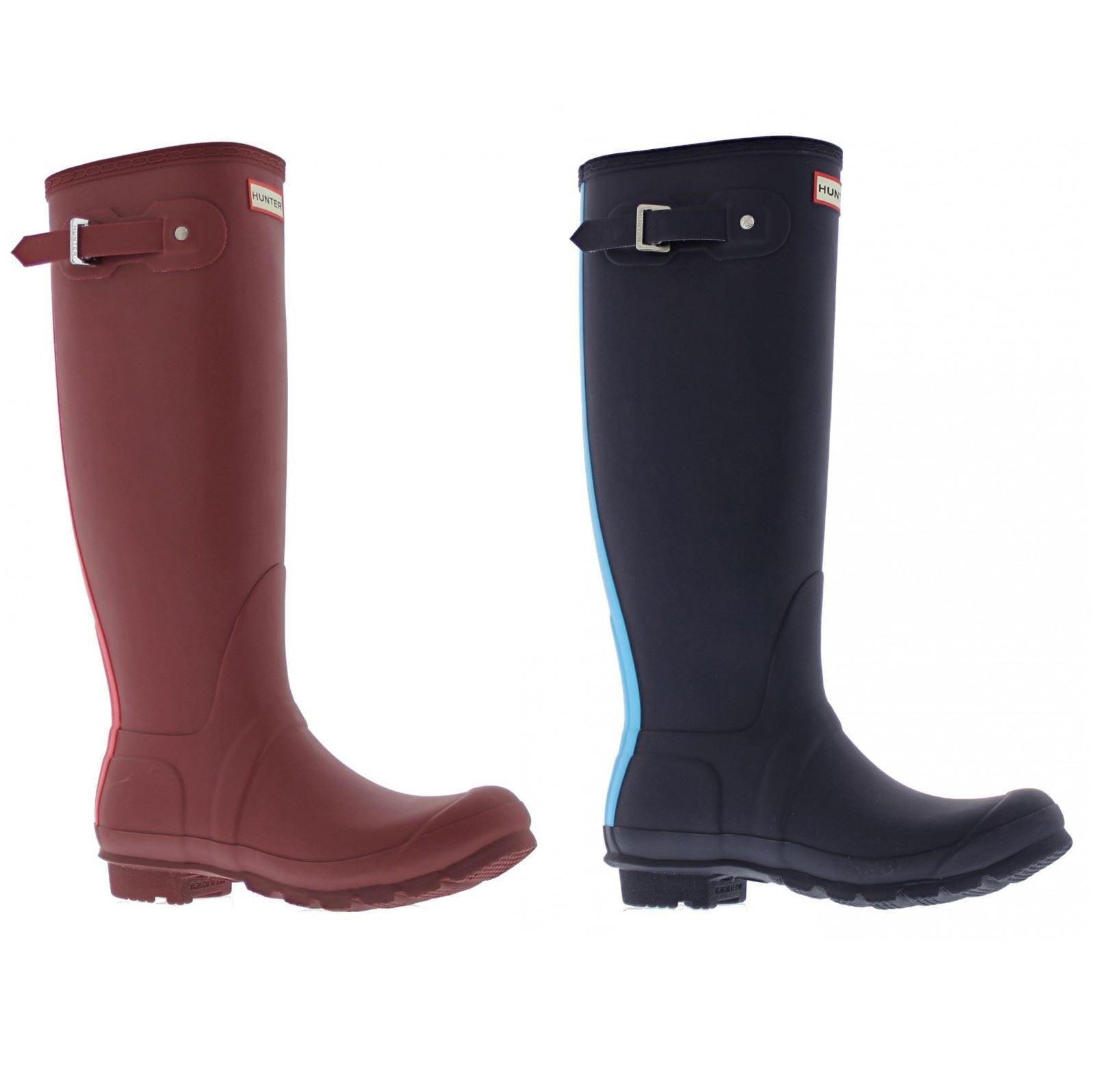 Grandes zapatos con descuento Hunter Original Stripe Womens Wellington Rain Boots