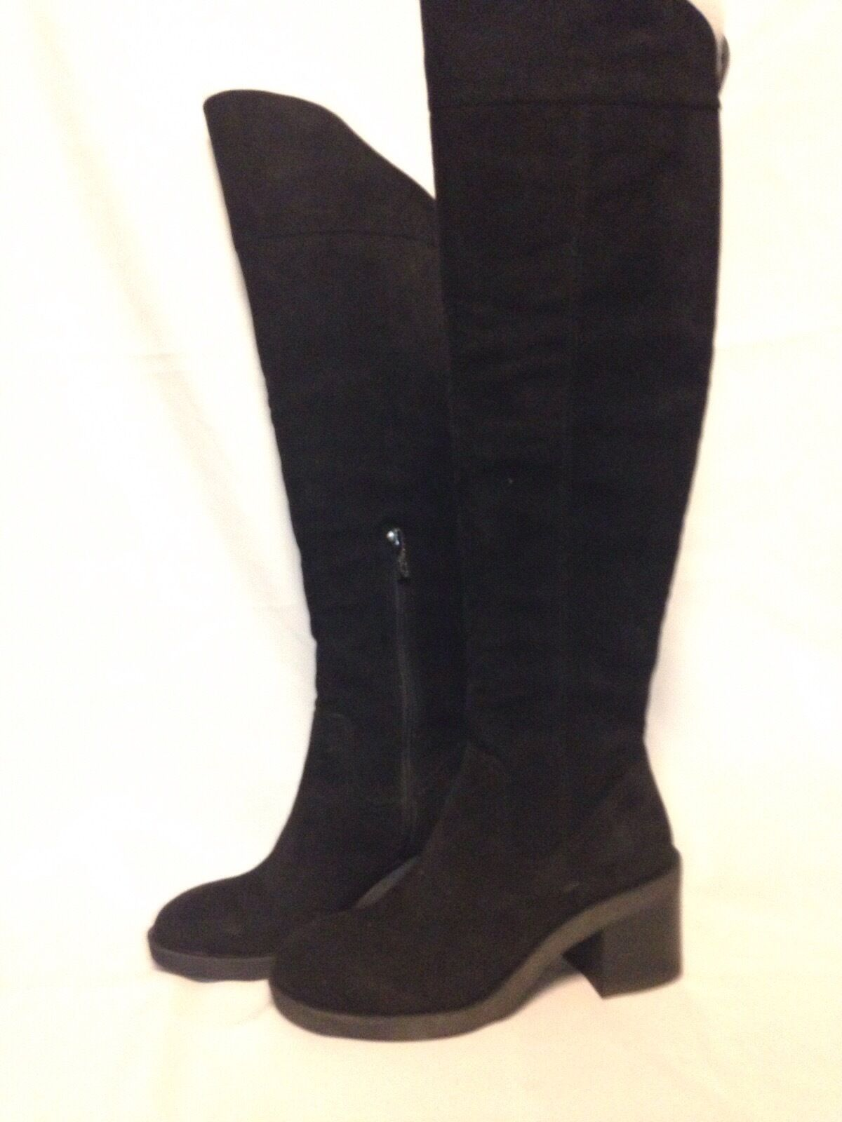 Kenneth Cole Reaction Camden Rise Tall Boot 5 M Black Suede New with Box