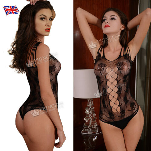 Fishnet Lace Bodysuit Dance Top Vest Club Night Out Swimming Suit Lots Styles