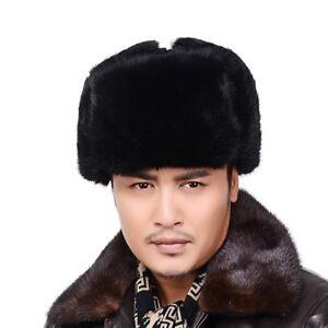 russe style ouchanka bonnet fourrure vraie lapin chapka chapeau cadeau homme ebay. Black Bedroom Furniture Sets. Home Design Ideas