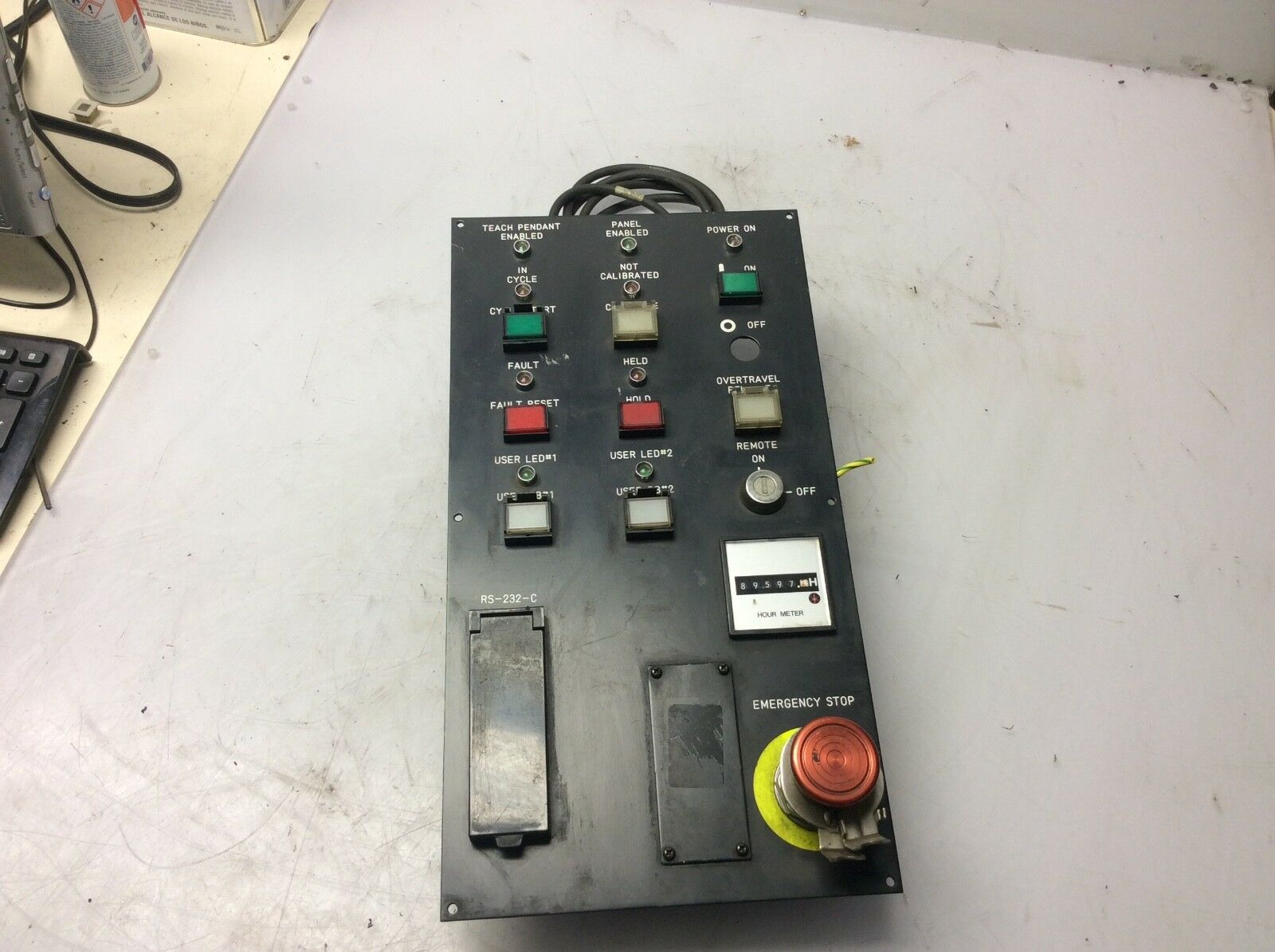 Fanuc Operator Panel for Built In CRT, A05B-2051-C121, Used, Warranty