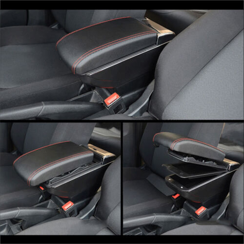 Armrest Box For Ford Fiesta 2008-2018 Consoles Storage Case Arm Rest With 7 USB