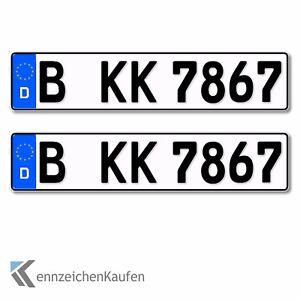2 Standard PKW EU Kennzeichen 520x110mm