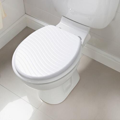 Estampar en forma de asiento del inodoro se adapta a la mayoría de inodoro estándar del Reino Unido-Baño Essentials