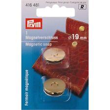 BOTTONE MAGNETICO CHIUSURA A CALAMITA PER BORSE COLOR ORO 19mm PRYM 416481