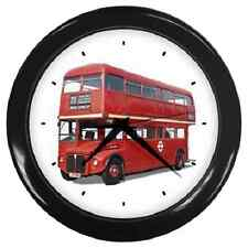 1966 RED DOUBLE DECKER LONDON BUS REPRO WALL CLOCK **GREAT ITEM**