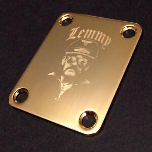 AgréAble Gravé Photo Gravé Guitare Ou Bass Neck Plate Lemmy Kilmister Motorhead-or-afficher Le Titre D'origine Soyez Astucieux Dans Les Questions D'Argent