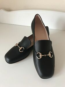 6d50d5eece3 Image is loading Gucci-Princetown-Horsebit-flat-black-leather-loafers-39-