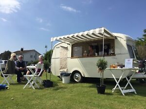 Image Is Loading Vintage Caravan Catering Cheltenham Coffee Mobile Gin Bar