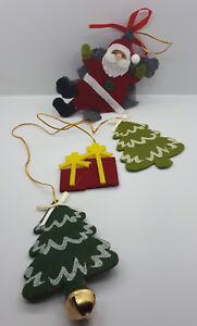 Decorazione-Natalizia-in-Tessuto-da-Appendere-appendino-Babbo-Natale-Regali-ecc