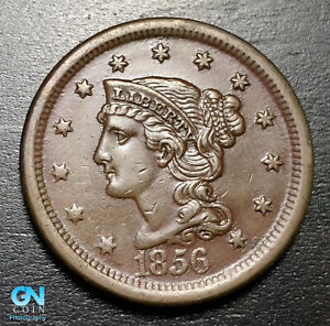 1856-Braided-Hair-Large-Cent-MAKE-US-AN-OFFER-B6009