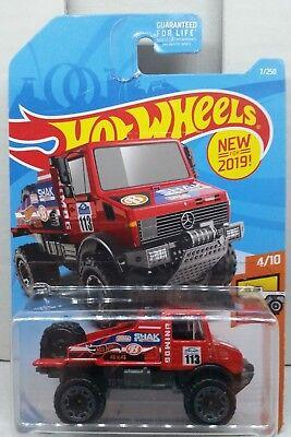 Mercedes-Benz Unimog 1300 Rallye #113 Shak Shocks Hotwheels FYB55 HW Hot Trucks 4//10