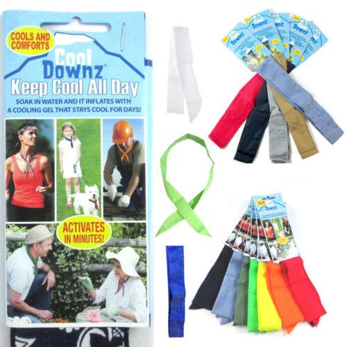 Super Cooling Towel Bandana Headband Chilly Pad Water Cool Downz Head Neck Heat