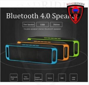 Roadriders-039-Green-MEGABASS-Bluetooth-4-0-Speaker-A2DP
